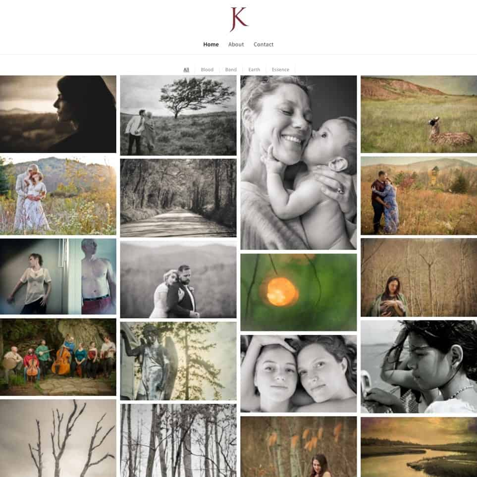 Jesse Kitt Photography - Website Design